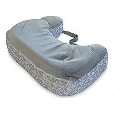 Boppy Two-Sided Breastfeeding Nursing Pillow, Kensington/Gray