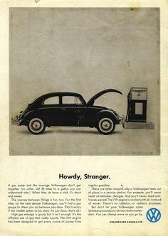 Volkswagen ad - Howdy Stranger Beetle                                                                                                                                                                                 More