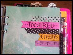 A Crafty Island Girl: Filofax: Inside My A5 Original