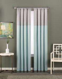 Modern window treatments | Color Block Modern Curtain Panel / Curtainworks.com