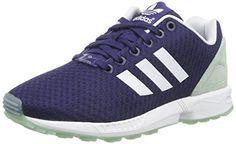 adidas ZX Flux W, Damen Sneakers, Blau (Ngtsky/Ftwwht/Frogrn), 40 2/3 EU (7 Damen UK) - http://on-line-kaufen.de/adidas/40-2-3-eu-adidas-zx-flux-w-damen-sneakers-2