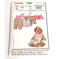 Burda Pattern 9712 Size 3 6 9 12 18 M Baby Wardrobe Overall Dress Jacket fun Burda Patterns, Dress Patterns, Sewing Patterns, Overall Dress, Baby Size, Jacket Dress, Baby Dress, Overalls, Handmade Items