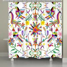 Shop for Laural Home Whimsy Folk Art Shower Curtain. Get free delivery at Overstock - Your Online Shower Curtains & Accessories Store! Get in rewards with Club O! Arte Popular, Season Colors, Painted Furniture, Folk Art, Color Pop, Color Blue, Vibrant Colors, Custom Design, Design Inspiration
