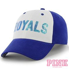 Women's New York Giants New Era White/Royal Glitter Glam 9FORTY Adjustable Hat