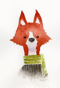 stick your neck out - I love this fox!