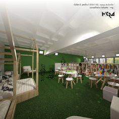 Projeto Espaço infantil Clobe D. Pedro II - Conselheiro Lafaiete/MG  _Arquitetura.Urbanismo.Mobiliário.Interiores