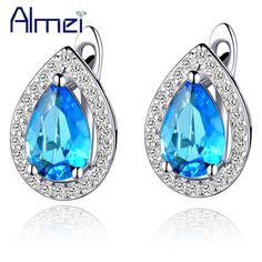 Find More Stud Earrings Information about Ruby Jewelry Sterling Silver Stud Earring Purple Jewelery Sapphire Crystal Women Earrings Blue Zircon Bijoux Brincos Ulove R446,High Quality earings display,China earrings fish Suppliers, Cheap earrings fringe from Almei Jewelry Store on Aliexpress.com
