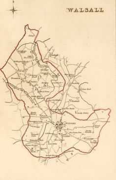 historic walsall map Walsall town centre in 1782 Based on John