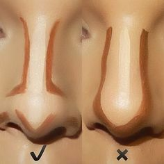 How to Contour Your Nose Right? Makeup Tricks Every Girl Should Know – Popcane How to Contour Your Nose Right? Makeup Tricks Every Girl Should Know How to Contour Your Nose Right? Makeup Tricks Every Girl Should Know – Popcane Facial Contouring Makeup, Face Contouring Tutorial, Highlight Contour Makeup, Contouring And Highlighting, Skin Makeup, Drugstore Contouring, Makeup Brushes, Cosmetic Brushes, Makeup Tips