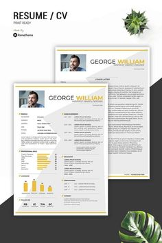 The template can be easily customized to your liking and includes all necessary files for a quick set-up. You can also move sections and duplicate anything in the template!or simply keep the original design. #graphicdesignresume Best Cv Template, Modern Cv Template, Resume Template Free, Templates Free, Free Resume, Graphic Design Brochure, Resume Design, Executive Resume Template, Joomla Themes