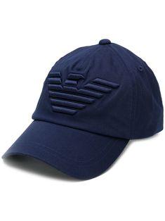 4d5d1850bc8 EMPORIO ARMANI EMPORIO ARMANI LOGO BASEBALL CAP - BLUE.  emporioarmani