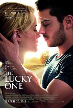 "The Lucky One - Zac Efron stars in the movie based on Nicholas Sparks' novel. ""The Lucky One"" was the first & only Nicholas Sparks novel that I've read. I missed seeing the movie. I plan to read all Nicholas Sparks novels. Blythe Danner, Taylor Schilling, Beau Film, See Movie, Movie Tv, 2012 Movie, Great Movies, Great Books, Awesome Movies"