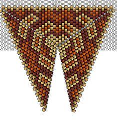 Треугольник из бисера: схемы плетения красивых кулонов