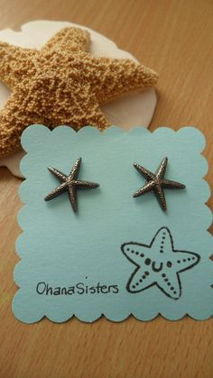 Starfish Earring Posts Studs - Nautical jewelry - Summer jewelry - OhanaSisters. $12.50, via Etsy.