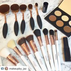 Bank holiday vibes!!! Loving this shot by @makeupby_jaz of our collection!! @makeupby_jaz with @repostapp. ・・・ How freaking amazing does the @iconic.london brushes and contour palette look!  Double tap if you would like to see a tutorial with these  @iconic.london #iconiclondon