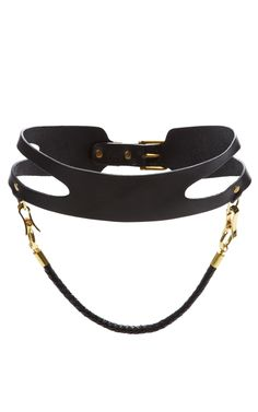 Zana Bayne x Prabal Gurung, FW 2013 - Cut-Out Waist Belt with Braided Strap
