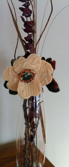 More felted sweater flowers