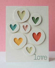 Love Hearts handmade card by Ang Mansfield of Paper and Ribbons 2 for 1 part 2
