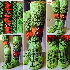 Ravelry: Kettumetsäsukat pattern by Titta Järvensivu — Hei sinulle neuloja! Knitting Charts, Knitting Socks, Hand Knitting, Knitting Patterns, Crochet Patterns, Knitted Slippers, Wool Socks, Crochet Motif, Knit Crochet