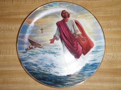 Bradford Exchange Religious Plate Robert Barrett Christ Walks On Water #3116A