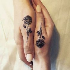 These tiny finger #tattoos are the perfect way to get inked with your BFF. Click above to see more bestie finger ink!