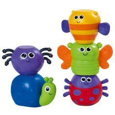 Ces 5 insectes de toutes les couleurs attirent le regard de l'enfant. Il les attrape facilement, leur forme ronde les rend facilement préhensibles. En manipulant et en emboîtant ces insectes magnétiques, l'enfant apprend les couleurs et affine la précision de ses gestes. Il peut aussi leur inventer quelques aventures dans le parc ou au jardin. Baby Toys, Kids Toys, Wooden Pegs, Some Ideas, Baby Feeding, Games For Kids, Yoshi, Minions, Nursery