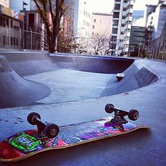 downtown building with great silouhettes Skate Park, Tokyo, Point Perspective, Exterior, Urban, City, Building, Image, Google