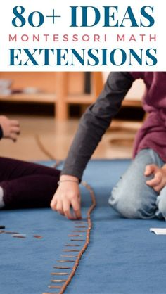 Learn over 80 Montessori Math Extensions for your Homeschool and Classroom! Keep kids engaged in the Montessori math works with these unique ideas! Montessori Homeschool, Montessori Elementary, Montessori Classroom, Montessori Activities, Elementary Math, Online Homeschooling, Montessori Theory, Preschool Curriculum, Maria Montessori