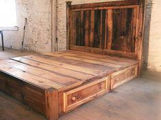 Hausgemachte King Size Bett Rahmen   Homemade King Size Bett Rahmen. Bett