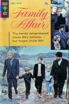 Family Affair published by Gold Key Comics. Old Comic Books, Comic Book Covers, Family Affair Tv Show, Johnny Whitaker, Anissa Jones, Planet Comics, Real Movies, 70s Tv Shows, Old Comics