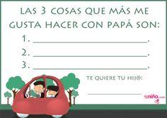 Manualidades del Día del Padre para imprimir - Especial Día del Padre - En familia - Guia del Niño