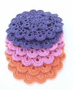 Crochet Appliques Crochet Motifs Set of 6 by Dushle on Etsy, $7.00