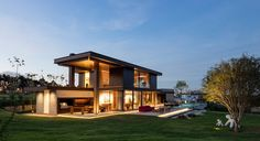 This rural contemporary home is designed to take advantage of an outdoor lifestyle