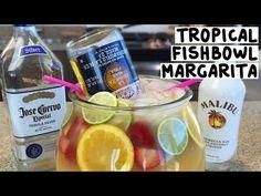 Tropical Fishbowl Margarita - Tipsy Bartender - YouTube