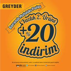 Greyder ile bayramda da mutluluğu paylaş!  ANKAmall Greyder'den bayrama özel ekstra %20 indirim...  Greyder, #ANKAmall 1. Katta.