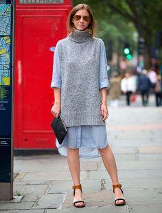 aprenda a usar vestido com suéter