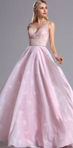eDressit Pink Floral Embroidery Prom Evening Dress