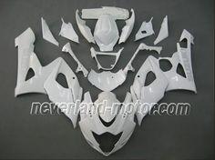 SUZUKI GSX-R 1000 2005-2006 K5 ABS Fairing - All White #2006gsxr1000fairingskit #06gsxr1000fairingkit