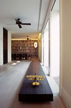 I just like this for some reason. The two different tones of wood, and the simple plank of wood accenting the windows all tied together with a simple model airplane making it seem like a runway. #decorideas