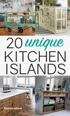 Kitchen Makeover 20 Unique Upcycled Kitchen Island Ideas - Need a kitchen island? Look on the side of the road or at a flea market to use one of these awesome kitchen island ideas for inspiration. Diy Kitchen Island, Kitchen Redo, New Kitchen, Awesome Kitchen, Kitchen Ideas, Antique Kitchen Island, Dresser Kitchen Island, Kitchen Units, Kitchen Cabinets