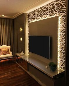 Scrumptious Farmhouse Bedroom Remodel Mirror Ideas 10 Rewarding Cool Tips: Bedroom Remodel Diy kids bedroom remodel children. Living Room Tv Unit Designs, Ceiling Design Living Room, Tv Wall Design, Living Room Decor, Tv Cabinet Design Modern, Tv Wall Ideas Living Room, Modern Tv Wall Units, Tv In Bedroom, Master Bedroom