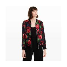 be80c29a Club Monaco Jacqui Bomber Jacket in Color Black ($269) ❤ liked on Polyvore  featuring