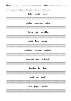 Fitxes escriptura inicial by Lila via slideshare