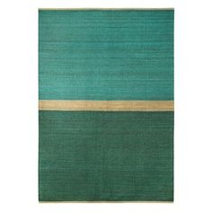 Field rug - green-blue - Brita Sweden, loomed with soft hemp yarn.