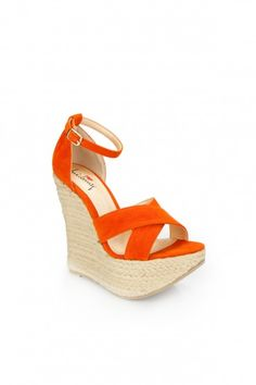 Re lax wedge in orange