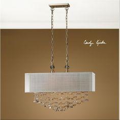 Two Light Brushed Brass Drum Shade Pendant : 9LV1F | Bright Light Design Center