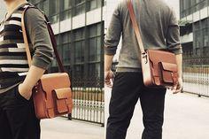 Custom Handmade Itanlian Vegetable Tanned Leather Satchel, Messenger Bag, Shoulder Bag, Men Bag