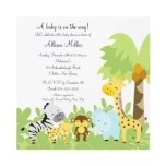 It's A Jungle Baby Animails Baby Shower Invitation by celebrateitinvites