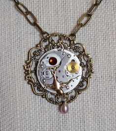 Steampunk Necklace.  Etsy - Trinkets Through Time