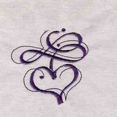 Swirl Hearts, another cool tattoo idea